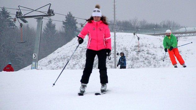 Ski areál Hlubočky. Ilustrační foto