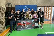 Zástupci Muay Thai Olomouc na amatérském mistrovství ČR v thajském boxu.