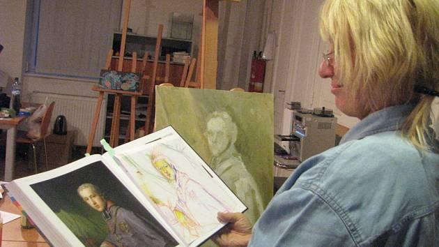 Malování podle předlohy klasiků v olomouckém Muzeu umění