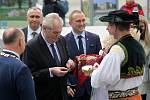 Prezident Miloš Zeman v sídle krajského úřadu v Olomouci