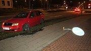 Novoroční nehoda opilého šoféra ve Schweitzerově ulici v Olomouci