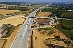 Výstavba dálnice D1 Lipník - Přerov - konec září 2019