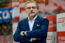Trenér HC Olomouc Zdeněk Moták.