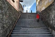 Schody z Blažejského náměstí v Olomouci