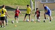 Hráči prvoligové Sigmy navštívili trénink žáků v Dolanech