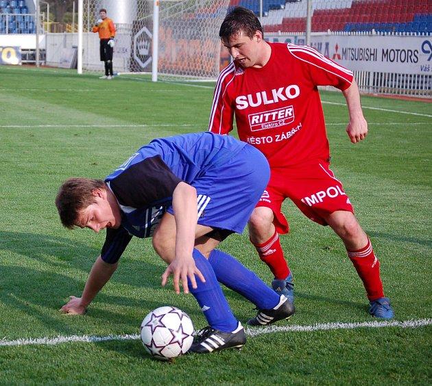 Pavel Dreksa (vlevo) z SK Sigma Olomouc a Petr Dragon.
