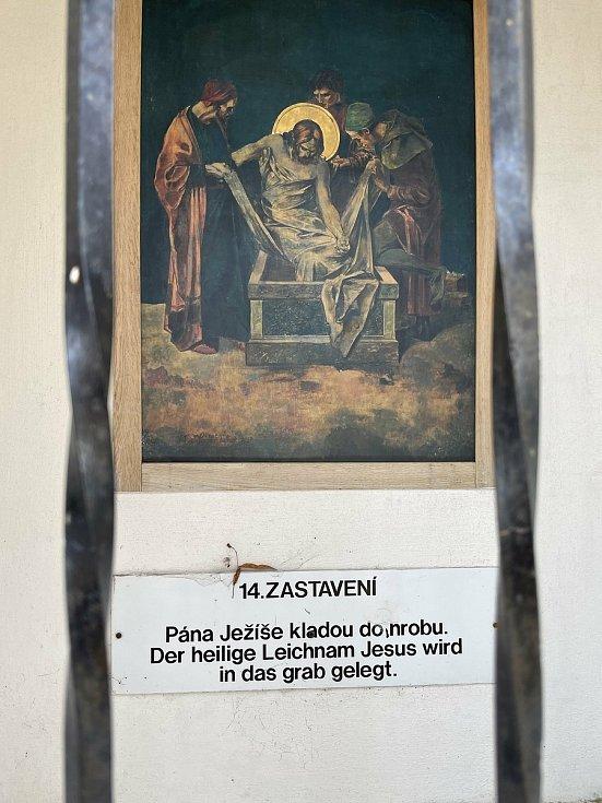 Křížový vrch v Moravském Berouně, březen 2021