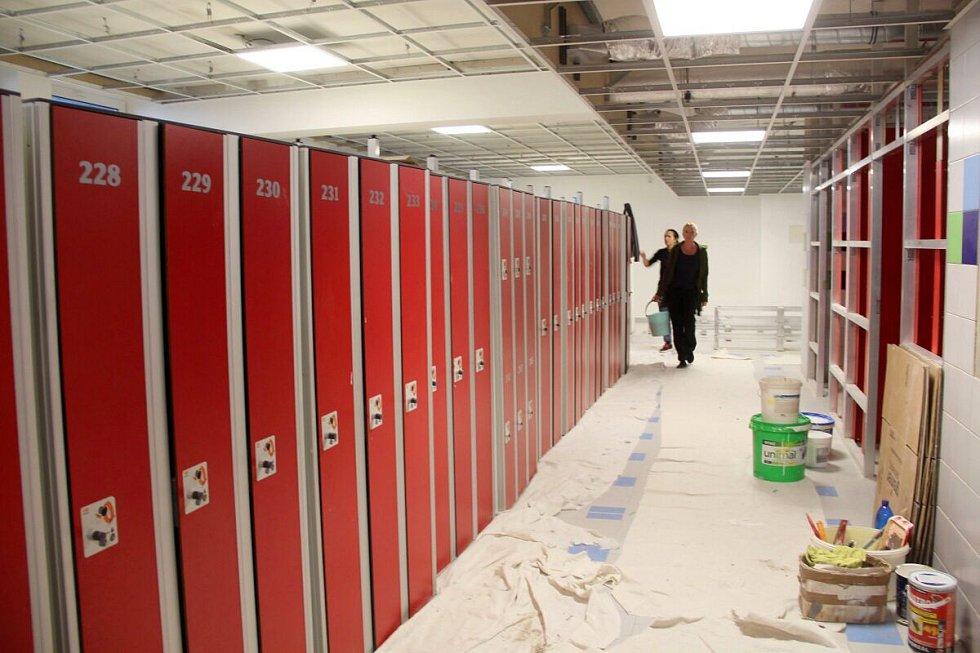 Rekonstrukce zázemí krytého bazénu v Olomouci v září 2017