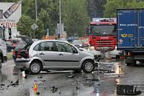Nehoda se obešla bez vážnějšího zranění.
