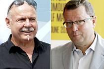 Olomoucký hejtman za ANO Ladislav Okleštěk (vlevo) a olomoucký primátor za ČSSD Antonín Staněk