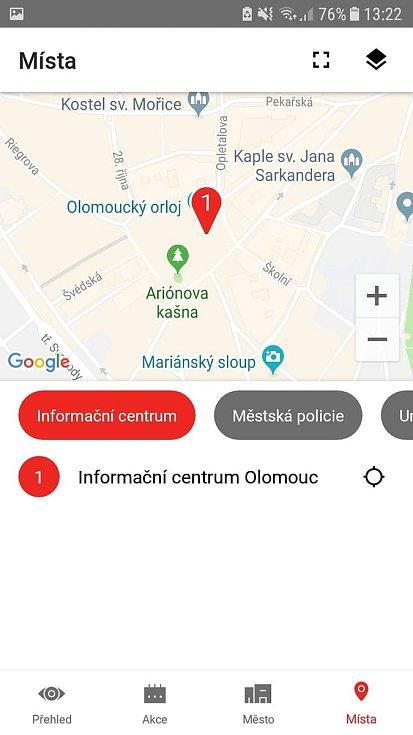 Aplikace Moje Olomouc