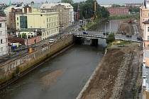 Most přes Moravu v Masarykově ulici v Olomouci