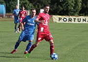 Viktoria Otrokovice (v modrém) proti Sigmě Olomouc