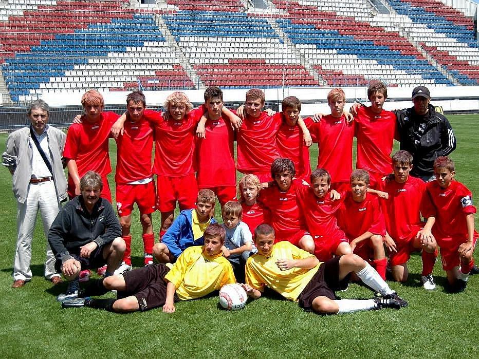 Stříbrný tým fotbalového turnaje - Olomoucký kraj