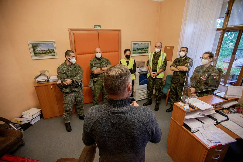 Mezinárodní cvičení CIMIC/PSYOPS COOPERATION 2021 jehož náplní bylo procvičit civilně vojenskou spolupráci, 6. října 2021 v Olomouci.