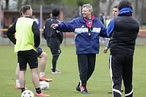 Tým olomouckého krajského výběru se připravuje na zápas Regions' Cupu