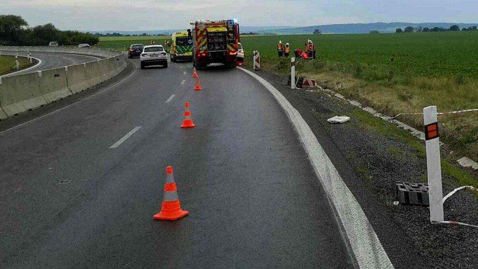 Tragická nehoda motocyklisty na obchvatu Olomouce