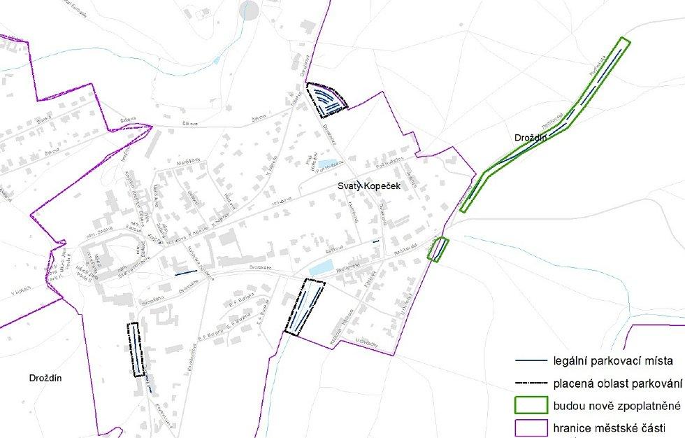Návrh placeného parkování na Sv. Kopečku