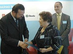 Bylinkářka Jarmila Podhorná z Brodku u Konice - Živnostník roku 2010 Olomouckého kraje