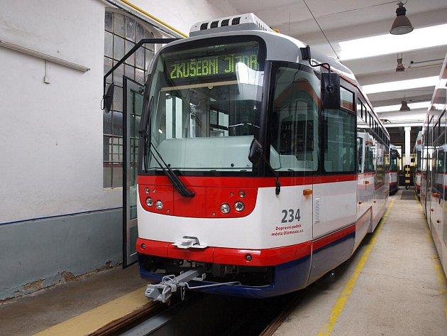 Zmodernizovaná olomoucká tramvaj