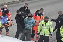 Srážka opilého cyklisty s autem s autem v Senici na Hané, 16. 11. 2020