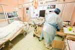 Péče o nemocné s covidem. Ilustrační foto