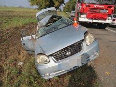 Havárie řidiče hyundaie u Hněvotína