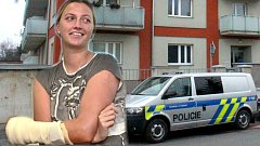 Petra Kvitová po operaci pořezané ruky a dům v Prostějově, ve kterém došlo k přepadení. Ilustrační koláž