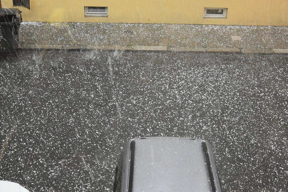 Krupobití v Olomouci, 1. 7. 2019