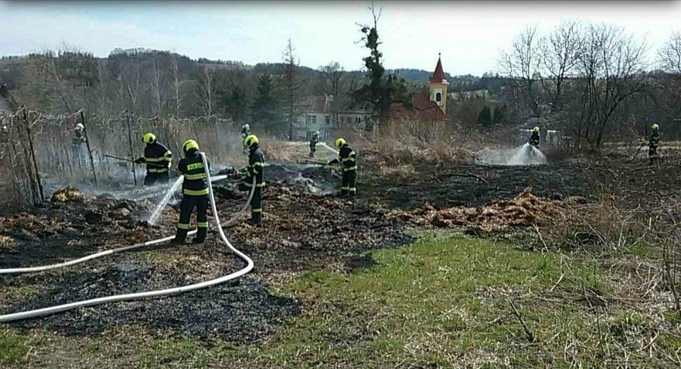 Víkendové požáry v Olomouckém kraji