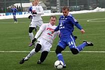 Sigma Olomouc (v modrém) v přípravě proti HFK Olomouc