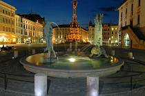 Arionova kašna na Horním náměstí v Olomouci
