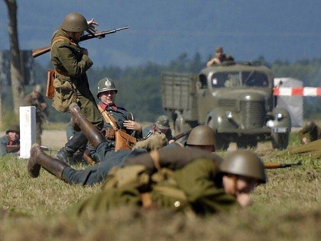 Vojenskohistorická akce Cihelna u Králík. Ilustrační foto