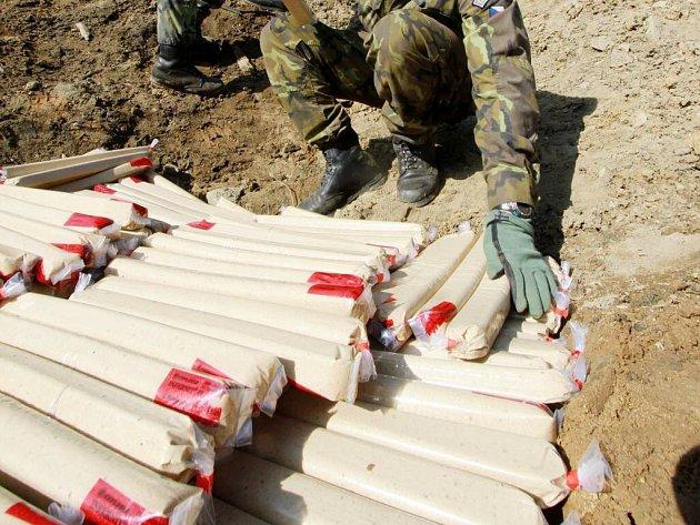 Likvidace vojenské munice. Ilustrační foto
