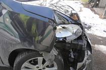 Nehoda u čerpací stanice v Majetíně