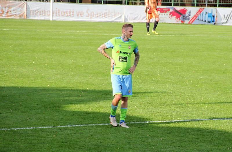 Fotbalisté 1. HFK Olomouc prohráli doma s Hranicemi 0:2.