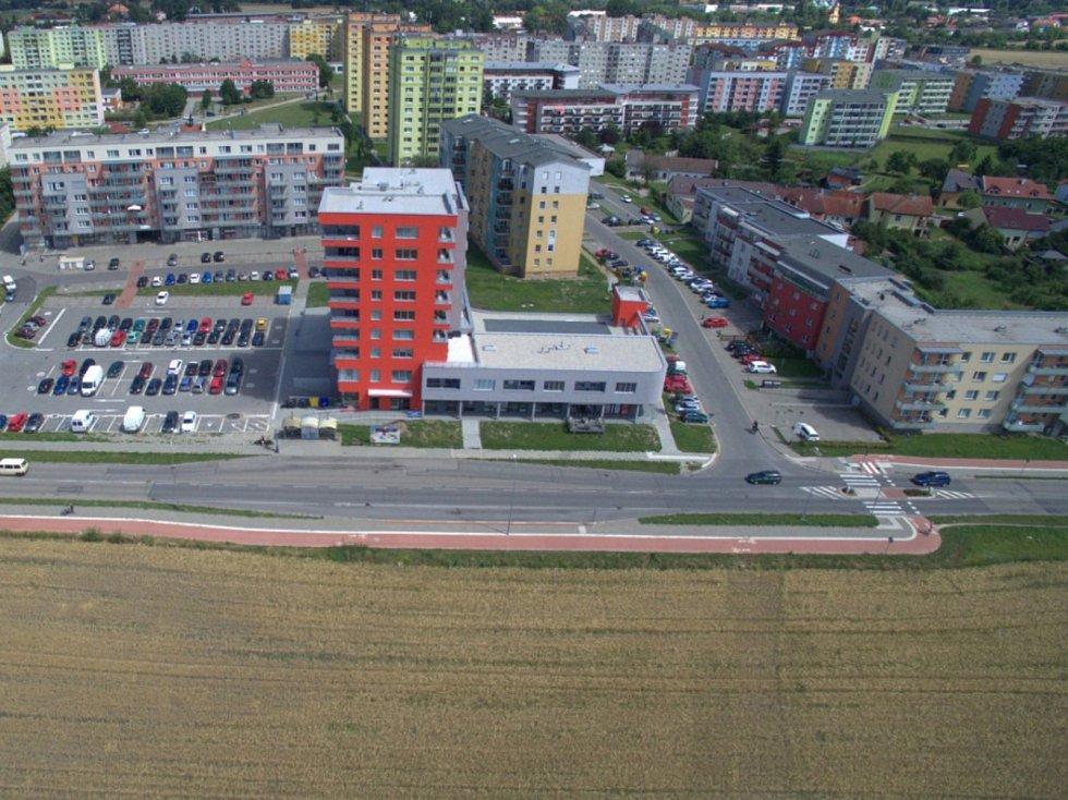 Rozšíření tramvajové trati na Nové Sady a do Slavonína. Na snímku je vizualizace - stav před - Schweitzerova - Voskovcova ulice