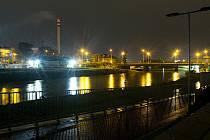 Řeka Morava v Olomouci klesla pod 1. povodňový stupeň, sobota 17. října 2020 večer