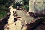 Následky přívalového deště, který v úterý 27. května zasáhl Jesenicko