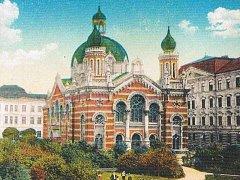 Olomoucká synagoga zničená v roce 1939