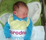 Adam Toman, Šternberk, narozen 25. února ve Šternberku, míra 50 cm, váha 3510 g