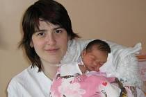 Daniela Staňková, narozena v Olomouci 8.1.2008, váha: 2970 g, míra: 49 cm, Křelov.