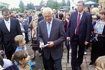 Prezident Václav Klaus na setkání s občany v Nákle na Olomoucku