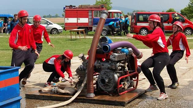 Mladí hasiči z Troubelic v akci