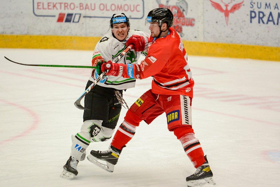 Olomoučtí hokejisté v rámci 47. kola Tipsport extraligy hostili Mladou Boleslav.