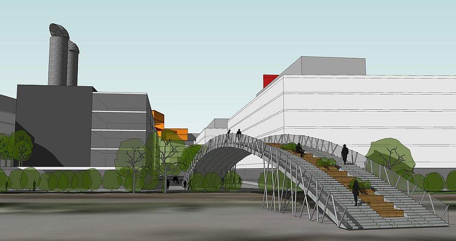 Vizualizace budoucí podoby areálu ve Wolkerově ulici