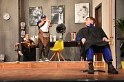 Zkouška hry Splašené nůžky v Moravském divadle v Olomouci