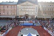 Hanácká laťka 2016 na Horním náměstí v Olomouci.