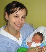 David Svoboda, Olomouc, narozen 7. května v Olomouci, míra 50 cm, váha 3410 g