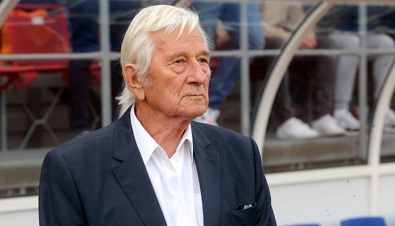 Karel Brückner na Zápase století v září 2019 na Andrově stadionu v Olomouci